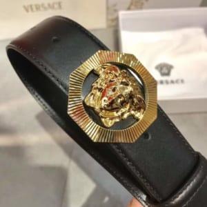 Dây lưng nam Versace siêu cấp đen mặt khóa vàng
