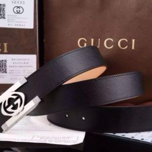 Dây nịt nam Gucci siêu cấp đen mặt chữ nhật