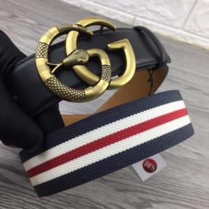 Dây nịt nam Gucci siêu cấp mặt khóa họa tiết rắn