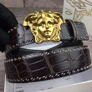 Dây nịt nam Versace siêu cấp da sần mặt khóa classic