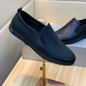 Giày lười Prada siêu cấp da trơn màu đen