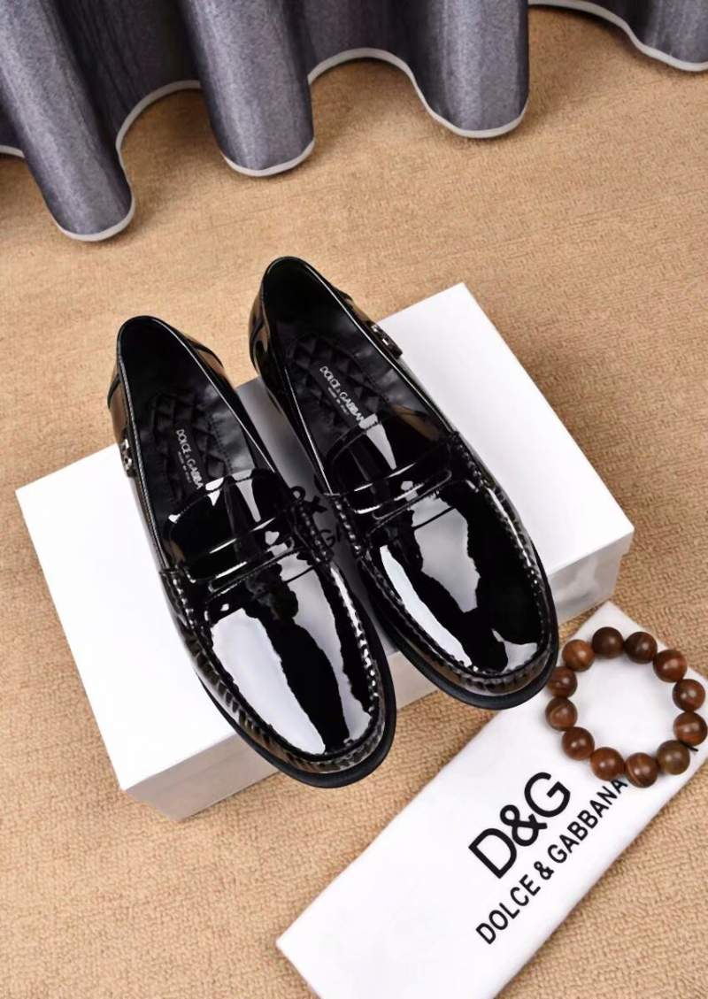 Giày lười D&G da trơn GDG 01