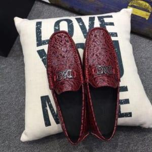 Giày lười D&G màu đỏ GLDG 08