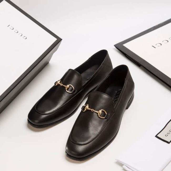Giày lười Gucci siêu cấp da đen trơn