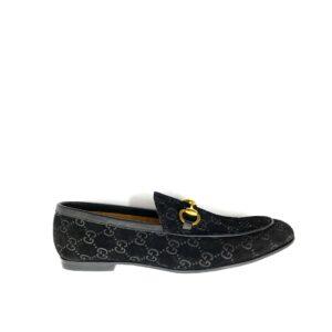 Giày lười Gucci siêu cấp đen họa tiết logo