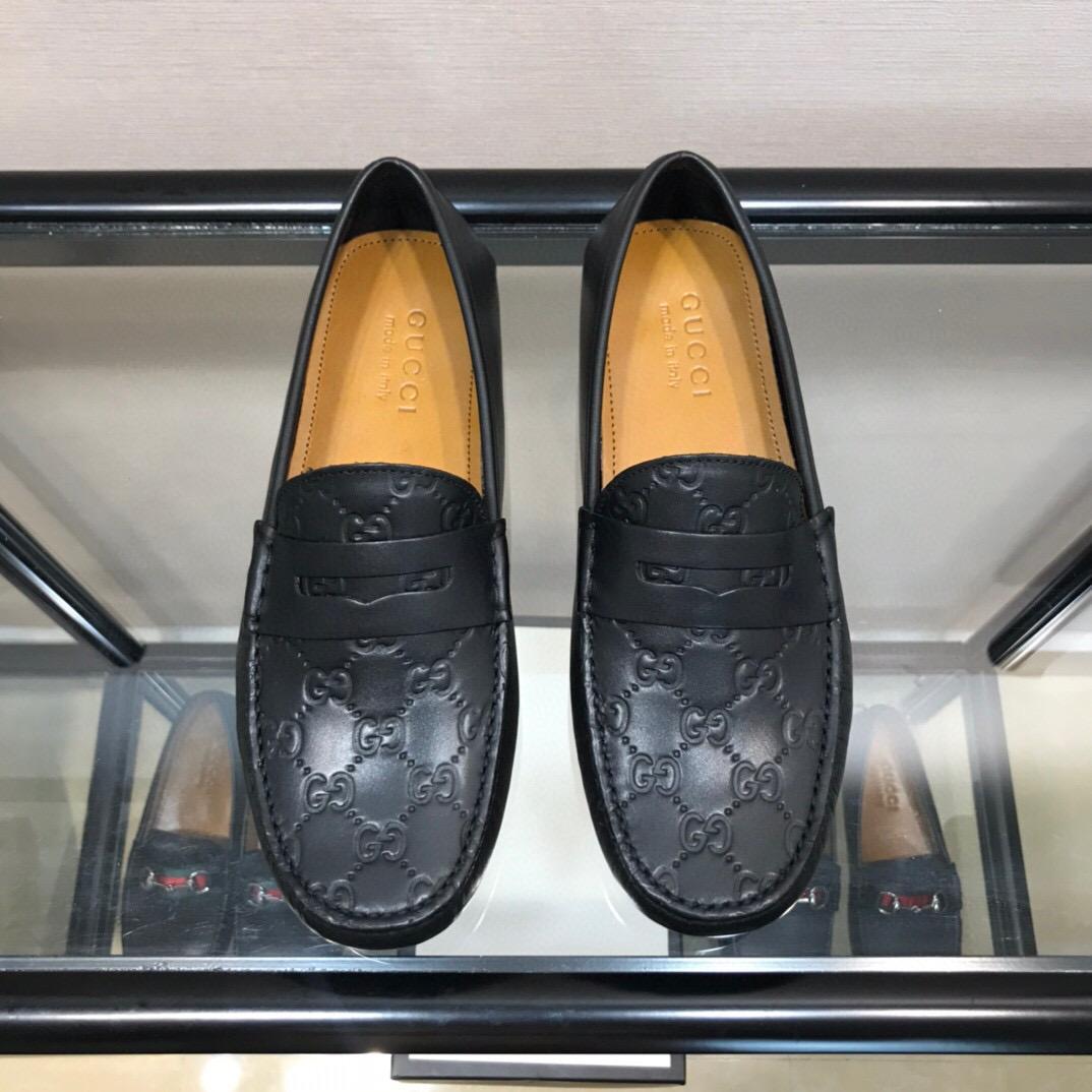 Giày lười Gucci siêu cấp họa tiết logo dập chìm GLGC32
