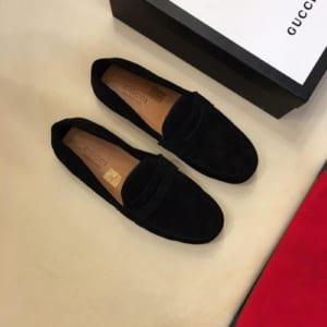 Giày lười Gucci siêu cấp họa tiết nhung