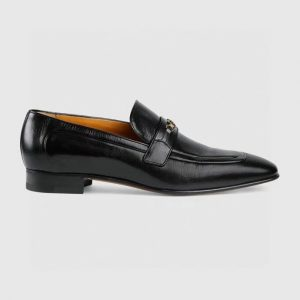 Giày lười Gucci like au đế cao da trơn tag xích nhỏ GLGC37