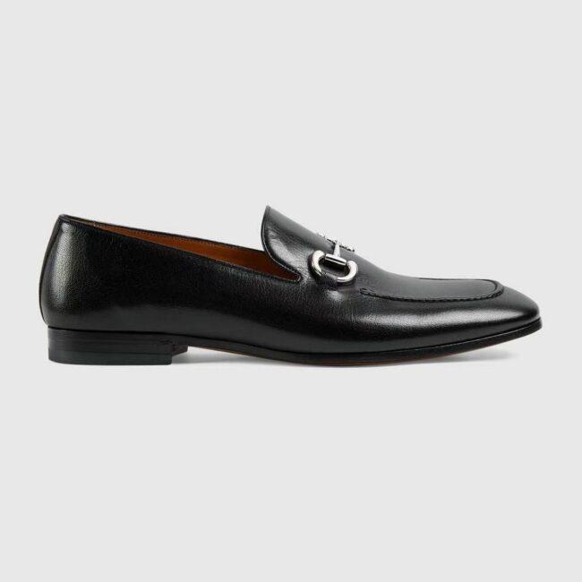 Giày lười Gucci like au đế cao họa tiết da trơn khóa trắng GLGC35