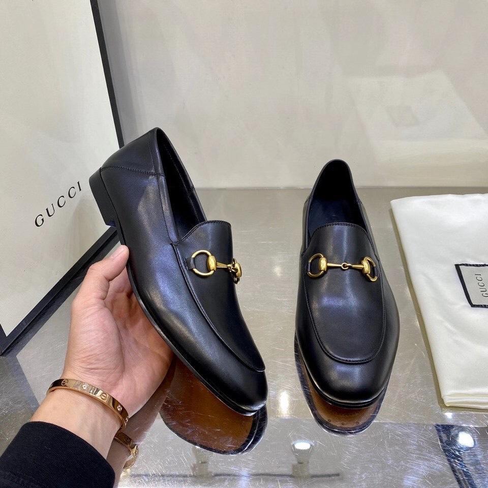 Giày lười Gucci like au hoạ tiết da trơn dẫm gót GLGC04