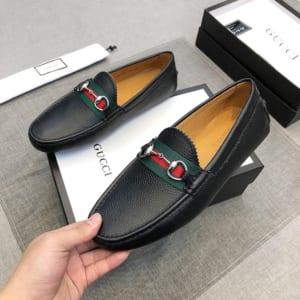 giày lười gucci siêu cấp màu đen