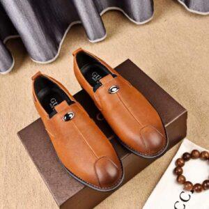 giày lười gucci siêu cấp màu vàng nâu
