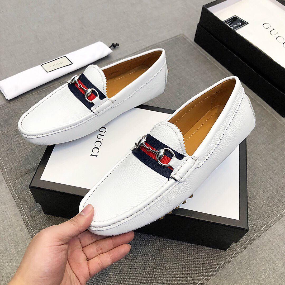 Giày lười Gucci siêu cấp màu trắng