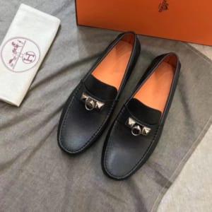 Giày lười Hermes like au họa tiết móc khóa GLHL01