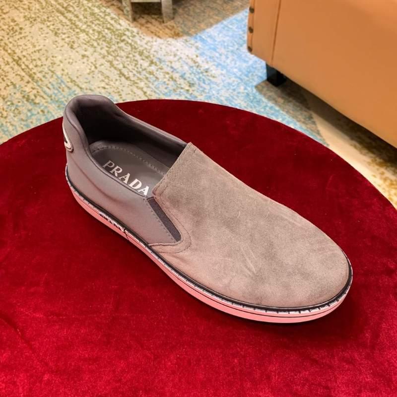 Giày lười Prada siêu cấp da lộn