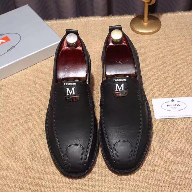 Giày lười Prada siêu cấp họa tiết chữ M