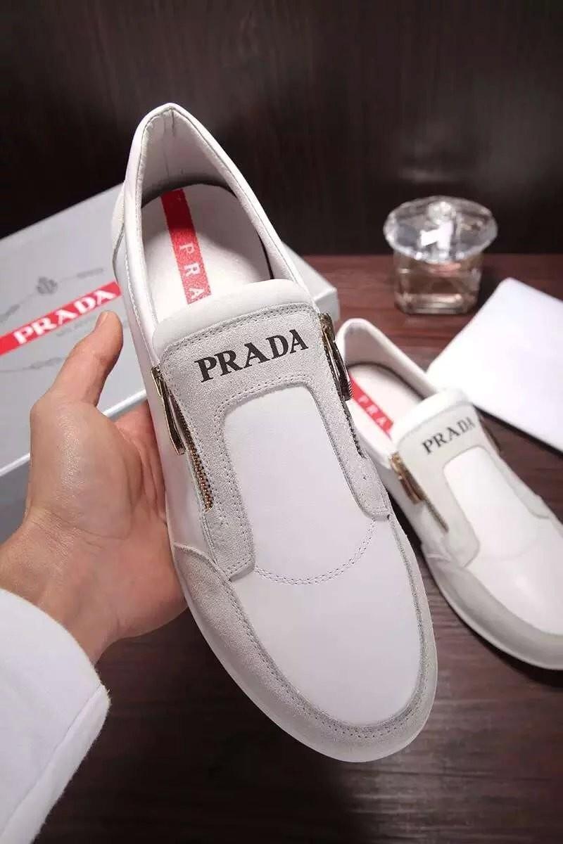 Giày lười Prada siêu cấp họa tiết da lộn