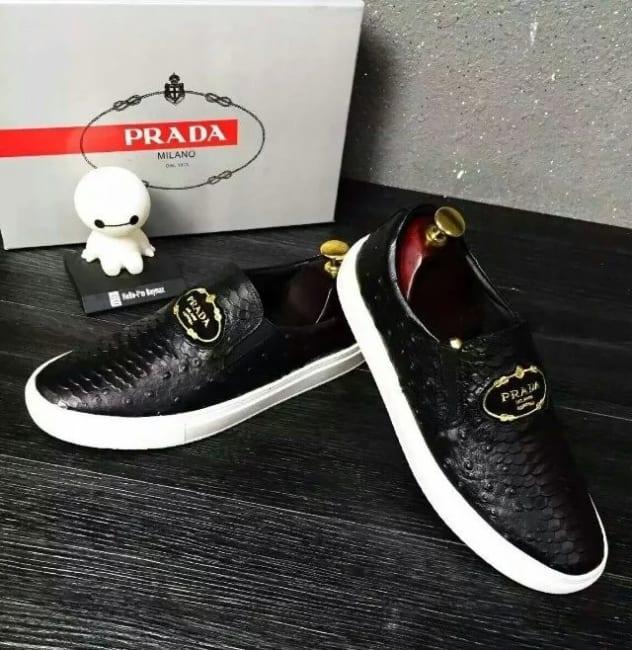 Giày lười Prada siêu cấp họa tiết da rắn