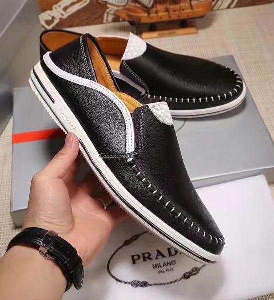 Giày lười Prada siêu cấp họa tiết viền