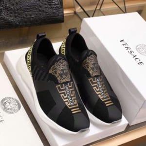 Giày lười Versace siêu cấp thoáng khí màu đen
