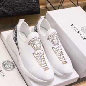 Giày lười Versace siêu cấp thoáng khí màu trắng