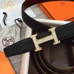 Thắt lưng Hermes like au đính đá TLH33