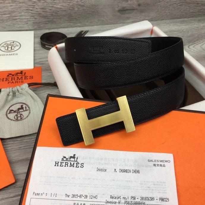 Thắt lưng Hermes nam đen chữ H thanh TLH25