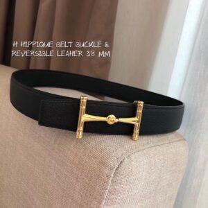Thắt lưng nam Hermes like au họa tiết chữ H xoắn TLH21