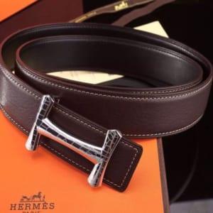 Thắt lưng Hermes nam mặt que chữ H hàng siêu cấp