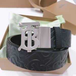 Thắt lưng nam Burberry siêu cấp dây họa tiết logo mặt chữ B