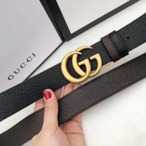 Thắt lưng Gucci nam siêu cấp da nhăn mặt khóa logo TLGC21
