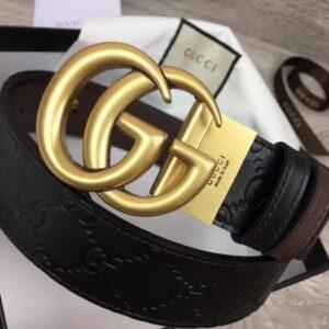 Thắt lưng nam Gucci siêu cấp da dập họa tiết logo TLGC39