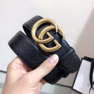 Thắt lưng nam Gucci siêu cấp mặt khóa G gold