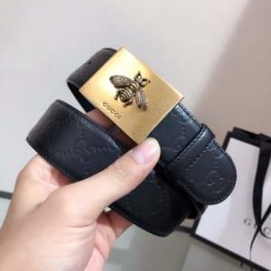 Thắt lưng nam Gucci siêu cấp mặt khóa ong