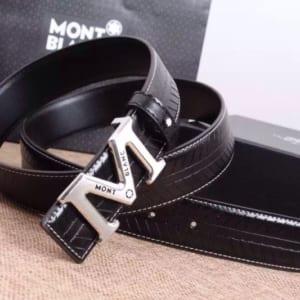 Thắt lưng nam Montblanc đen mặt chữ M siêu cấp