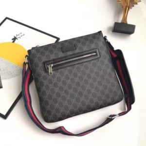 Túi đeo chéo Gucci siêu cấp đen hoạ tiết caro