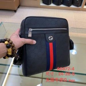 Túi đeo chéo Gucci siêu cấp hoạ tiết viền đỏ