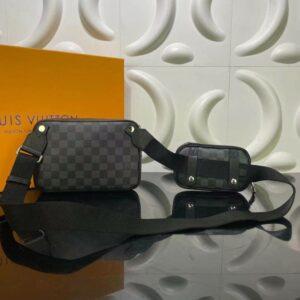 Túi đeo chéo Louis Vuitton like au hoạ tiết caro 2 in 1 TDCLV21