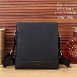 Túi đeo chéo Gucci siêu cấp đen trơn hoạ tiết logo