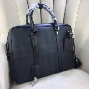 Túi xách Burberry nam siêu cấp xanh hoạ tiết caro
