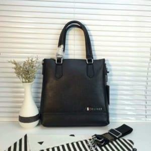 Túi xách Gucci nam mini xanh đen logo Gucci nổi siêu cấp