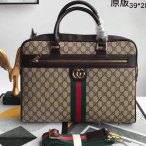 Túi xách Gucci nam siêu cấp trắng họa tiết caro kẻ sọc