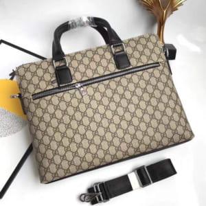 Túi xách Gucci nam siêu cấp trắng hoạ tiết caro