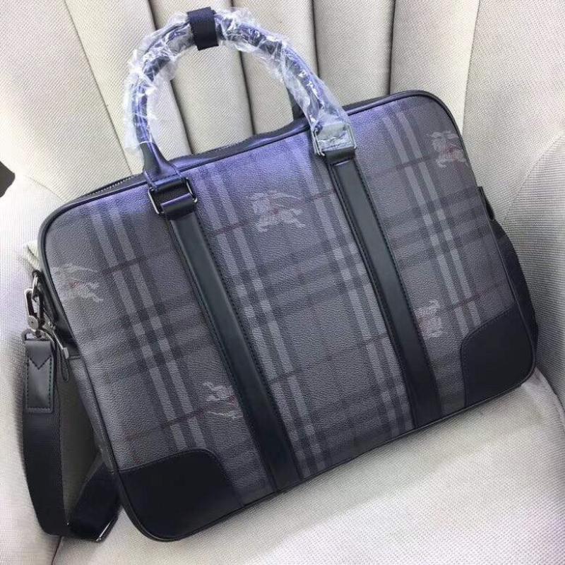 Túi xách nam Burberry siêu cấp xám họa tiết logo