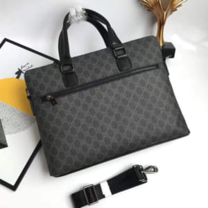Túi xách nam Gucci siêu cấp đen hoạ tiết logo