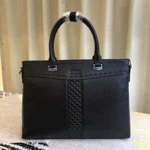 Túi xách nam Gucci đen kẻ dọc giữa siêu cấp
