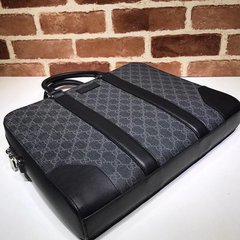 Túi xách nam Gucci like au hoạ tiết logo xanh viền đai đen TXGC28
