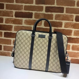 Túi xách nam Gucci like au hoạ tiết logo trắng sữa đai đen TXGC01