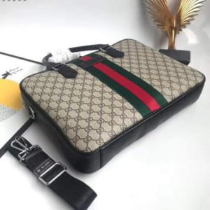 Túi xách nam Gucci siêu cấp trắng họa tiết sọc xanh đỏ
