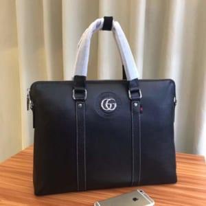 Túi xách nam Gucci xanh đen da trơn siêu cấp